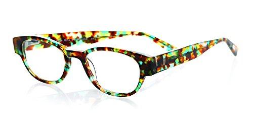Eyebobs Women's Rita Book Cateye Reading Glasses, Spotty Blue Tortoise, 47 mm + 2.75