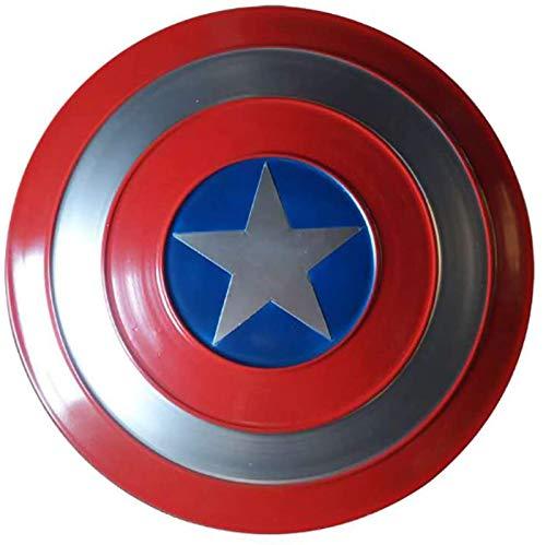 47Cm Escudo Capitan America Metal 1: 1 Adulto Apoyos de Película Niños Hierro Forjado Capitán América Shield Capitán Disfraz de Metal Shield
