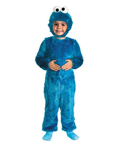 Horror-Shop Krümelmonster Kinder Kuschel Kostüm für Karneval oder Halloween 4-6 Jahre