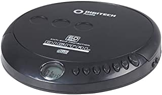 Portable CD Player with Earphones Music Player Disc with 60 sec Anti-Shock