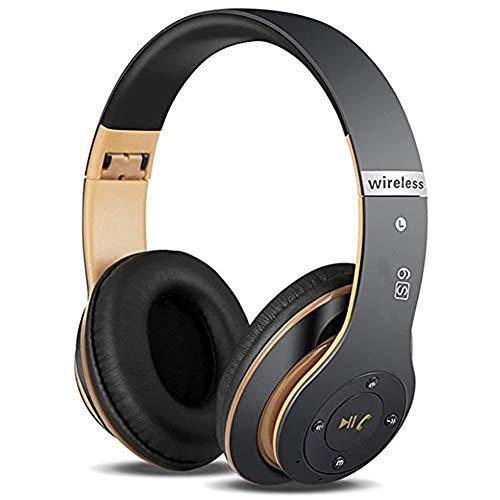 Auriculares Cerrados Inalámbricos 6S, Alta fidelidad Estéreo Auriculares Estéreo Inalámbricos Plegables, Micrófono...