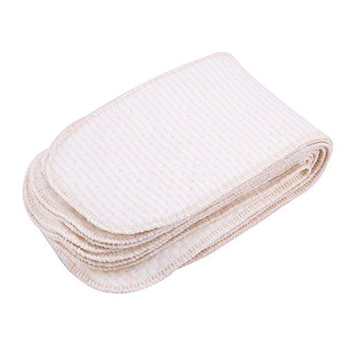 Babywindeln Neugeborene,10 Teile/Paket Babyeinsatz-Windel-Stoff Atmungsaktive Baumwolle Baby-Windeln Neugeborene Wiederverwendbare Waschbare Einsatzwindel-Stoff