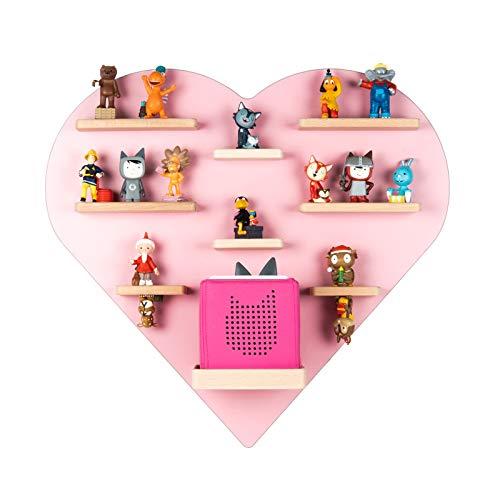 BOARTI Kinder Regal Herz in Rosa - geeignet für die Toniebox und ca. 38 Tonies - zum Spielen und Sammeln