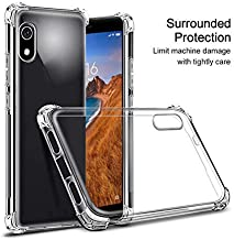 for Xiaomi Redmi 7A Case,[Strengthen Version with Four Corners] [Camera Care Protection] Shockproof Soft TPU Rubber Skin Silicone Protective Case for Cover Xiaomi Redmi 7A (Clear)