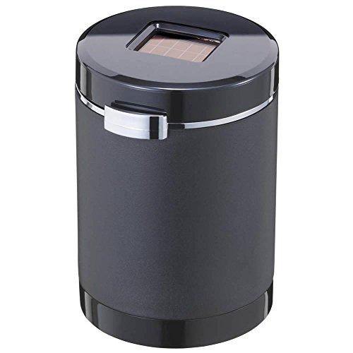 ナポレックス 車用 灰皿 Fizz センサーイルミアッシュ ブラック ブルーLED付 電池交換不要 (ソーラー発電/...