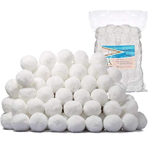 TATUNER Filterballs 1400g- ersetzen 50 kg Filtersand,filterbälle für Schwimmbad, Filterpumpe, Aquarium Sandfilter