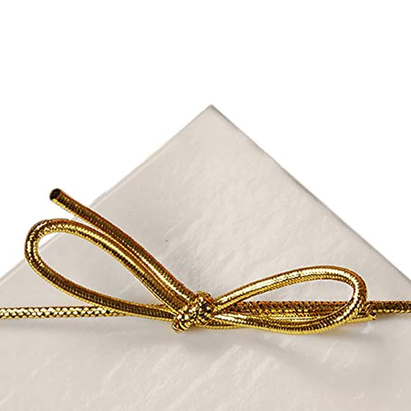 22 Inch Gold Metallic Stretch Loops with Bows (100)