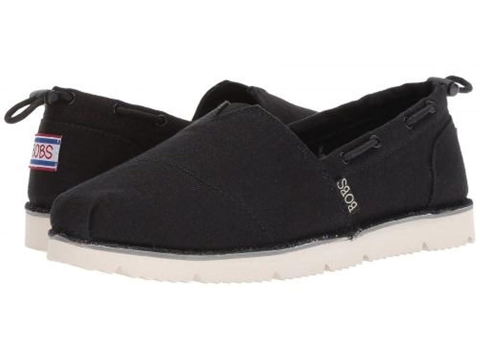 等しい動力学ホイットニーBOBS from SKECHERS(ボブス スケッチャーズ) レディース 女性用 シューズ 靴 ローファー ボートシューズ Chill Flex - Black/White [並行輸入品]