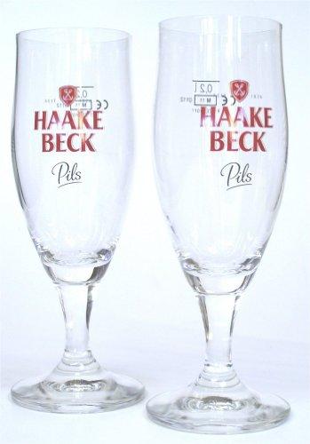 Haake Beck Pils Bier Gläser 6er Set 6 x 0,30 Liter Exclusive Gastro Edition