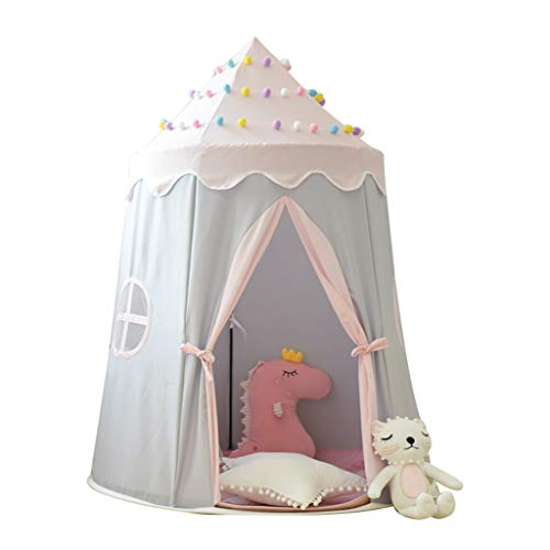 Play Tents Teepee Tent Kids Yurts Game House Indoor Girl Boy Princess Castle Small House Home Reading Corner Children's Tent (Color : A, Size : 110 * 140cm)