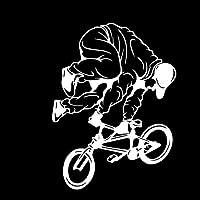 Kaytering 14.1CM * 18.7CMサイクリングバイクBMXスキルエクストリームスポーツヴィンリーデカールおもしろい装飾カーステッカーC27-0659-シルバー