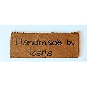 5 x Label Handmade by aus echtem Leder