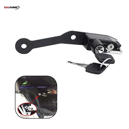 Motorcycle Helmet Lock for Yamaha MT-07 FZ-07 2014-2020 FJ-07 2014-2016 BMW S1000R S1000RR HP4 2009-2018 - Black