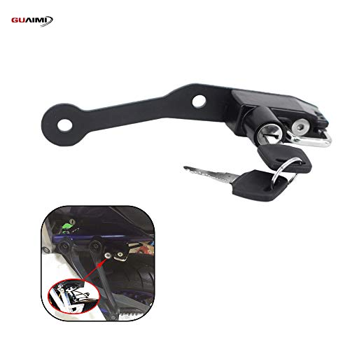 Motorcycle Helmet Lock for Yamaha MT-07 FZ-07 2014-2020 FJ-07 2014-2016 BMW S1000R S1000RR HP4 2009-2018 - Black