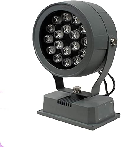 Luz de inundación LED Foco exterior impermeable IP65 de ahorro de energía adecuado para iluminar y embellecer el puente de pared exterior de edificios de patio, 7 colores 3 fuente de alimentación