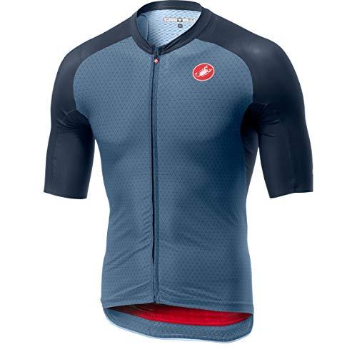 CASTELLI Aero Race 6.0 FZ, Camiseta para Hombre, Hombre, Camiseta, 4519009, Light Steel Blue, L
