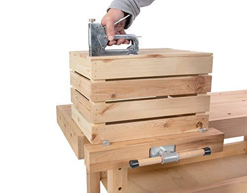 Hobelbank BUCHE Werkbank Holzwerkbank Werktisch Arbeitstisch mit Spannzange - 4