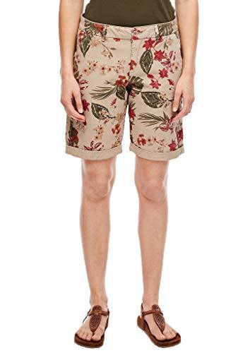s.Oliver RED Label Damen Regular Fit: Chino-Bermuda mit Print Sand AOP 46