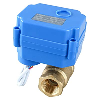 """Homend Motorized Ball Valve, 1/2"""" Brass Electrical Ball Valve with Full Port, 9-24V AC/DC 3 Wire Setup (1/2"""") from Homend"""