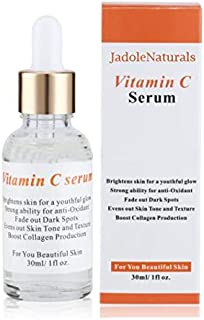 Jadole Naturals Anti-Oxidant Vitamin C Serum Brighten Skin for Youthful Glow
