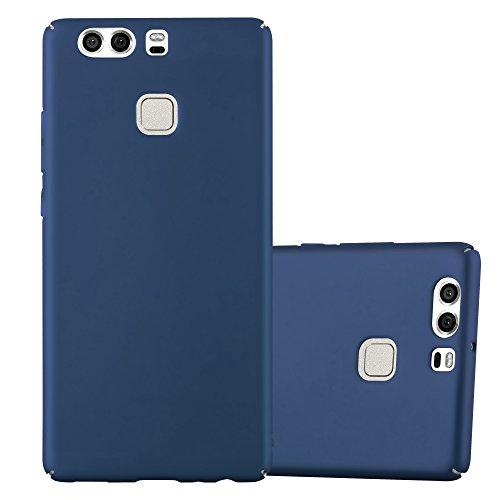 Cadorabo Coque pour Huawei P9 en Metallic Bleu - Housse Protection Rigide en Plastique Dur avec Anti-Choc et Anti-Rayures - Ultra Slim Fin Hard Case Cover Bumper