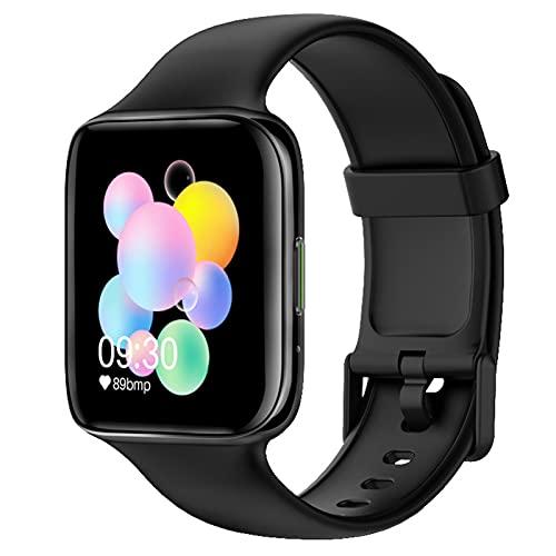 APCHY Orologio Intelligente Smartwatch da Uomo,Fitness Tracker di Monitoraggio della Frequenza Cardiaca da 1,54 Pollici + ECG Bluetooth Call Sleep Frequenza Cardiaca per Frequenza Sanitaria,Nero