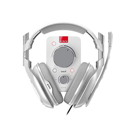 ASTRO A40 TR Gaming-Headset + MixAmp Pro TR Adapter, 3. Generation, 7.1 Dolby Surround Sound, Austauschbares Mikrofon, Lautsprecher-Tags, Leichtgewicht, Mod-Kit Kompatibel, PC/Mac/Xbox One - weiß