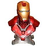 WangQ Marvel Super Hero Modelo Avengers Series Personaje Iron Man 1: 1 Estatua Busto Colección Regalos ///