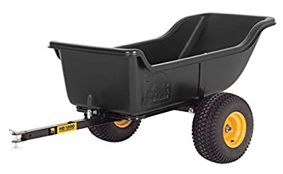 Polar Trailer 8232 HD 1200 Heavy Duty Utility and Hauling Cart, 84 x 45 x 31-Inch 1200 Lbs Load Capacity Rugged Wide-Track Tires Quick Release Tipper Latch Tilt & Pivot Frame