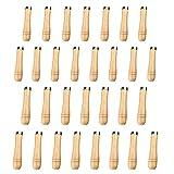 Counius 30 Stück Feilengriff Holz Hartholzfeile Mit Schaft 4-8 Zoll mit Starken Metallhalsbänder...
