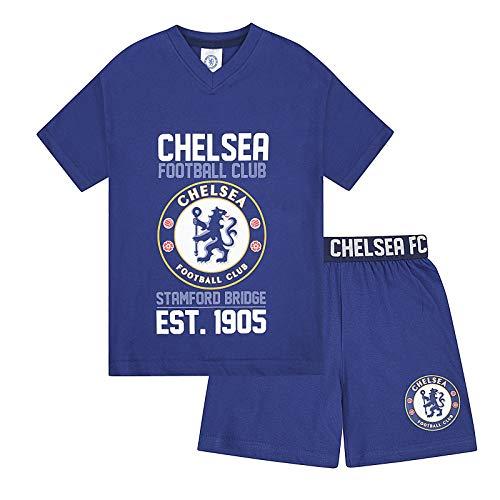Chelsea FC - Pijama corto para niño - Producto oficial - Azul - Azul - 12-13 años