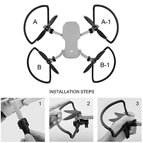 RC GearPro Propeller Guards Beschermers Afscherming Ringen Landing Gear Extension Benen Propellers Guards voor DJI Mavic Mini Drone Accessoires, Zwart