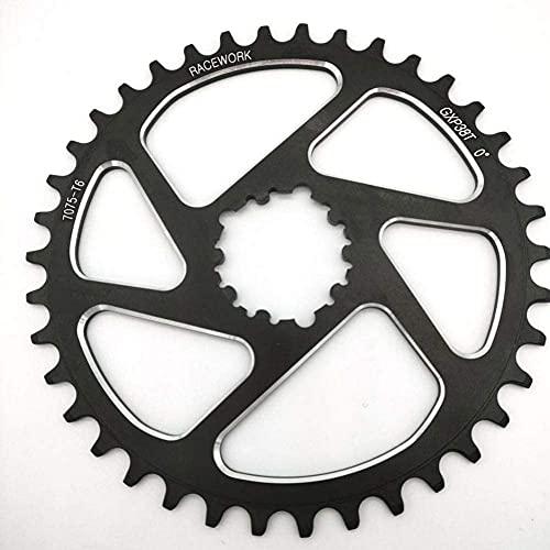 Apto para plato de rueda de cadena, manivela, plato de bicicleta de carrera, 32 34 36 38 T, plato de bicicleta de ancho estrecho, manivela, placa redonda, plato de bicicleta de engranaje de un solo d