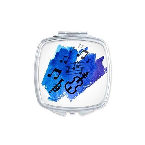 DIYthinker Guitare Style Gothique Motif carré Miroir de Maquillage Compact Portable Mignon Miroirs de Poche à la Main Cadeau Multicolor