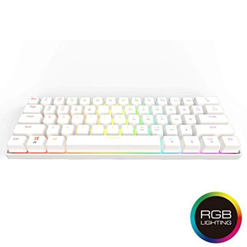 GK61 Mechanical Gaming Keyboard - 61 Keys Multi Color RGB Illuminated LED Backlit Wired Gaming Keyboard,...