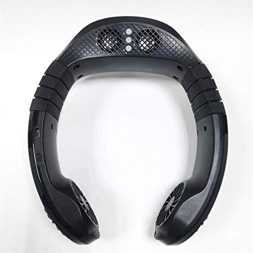 HIGHKAS Ventilador Deportivo con Cuello Colgante, Ventilador portátil con Cuello con Altavoces Bluetooth 5.0, 3 velocidades para Juegos, reproducción de música y visualización de películas en TV, ne