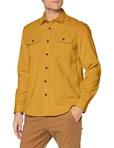 ESPRIT Herren 090EE2F302 Hemd, 700/AMBER Yellow, XL