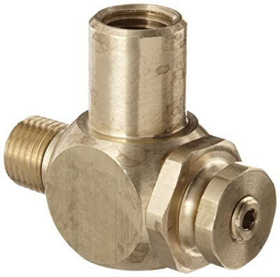 """Parker 032510250 3251 Series Brass Right Angle Flow Control Valves, 1/4"""" NPT Male x Female, 125 psi by Parker"""