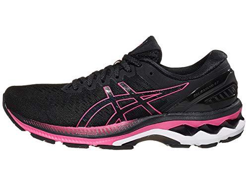ASICS Women's Gel-Kayano 27 Running Shoes, 9M, Black/Pink GLO
