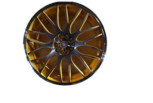 Cuatro ruedas de aleación Yazmine de oro de 17 pulgadas x 7.0 y 5 x 110 ET40