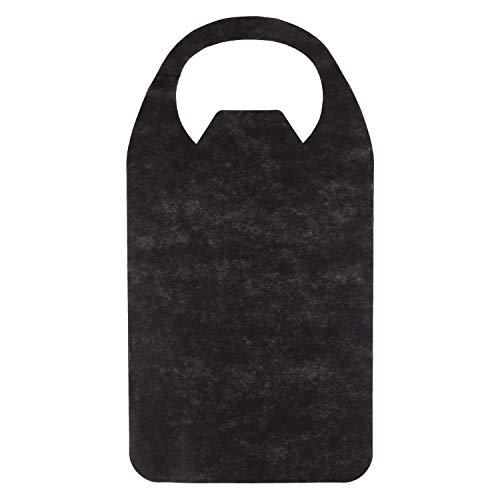 使い捨てエプロン 襟元カバー付き 125枚 (黒) 紙エプロン 使い捨て 大人 不織布エプロン 業務用 介護ようエプロン