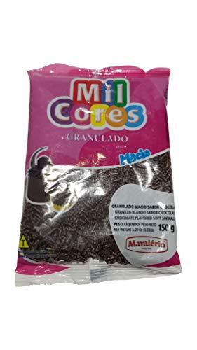 MIL CORES Confeitos Granulados - Confectionery Sprinkles - Gluten Free. (Chocolate Granulado Macio, 150 gr.)