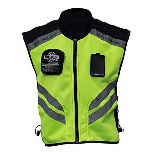 Explopur Gilet Riflettente, Ultralight Fluorescente ad Alta visibilità Senza Maniche Ampia Tasca e Tasca Interna per Lo Sport, Sicurezza di Guida in M