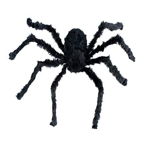 song rong 120cm Halloween Spiders Schwarz Große Spinnen-Plüsch-Spielzeug Realistische haarige Spinne Halloween-Party Scary Dekoration 1PC