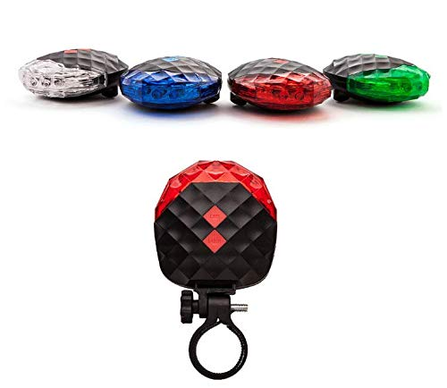 BlueSunshine 2 Laser + 5 LED 7 Modes Super Lighting Cycling Bicycle Bike Taillight Warning Flashing Lamp Alarm Light/LED Safety Light for Mountain Bike Cycling Water Resistant Rear Lights (Red)