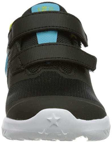 Nike Boy's Unisex Kids Star Runner 2 (TDV) Gymnastics Shoe, Black Chlorine Blue High Voltage White, 2.5 UK Child