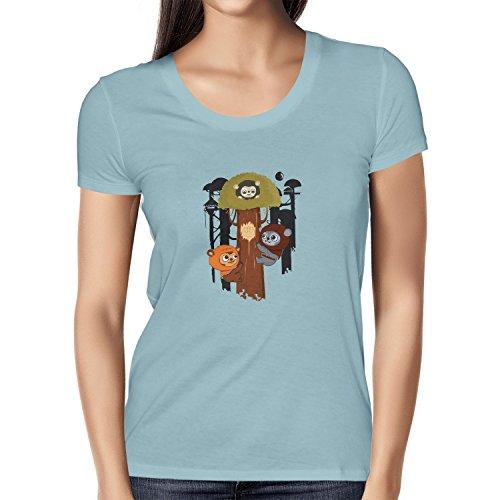 Texlab Damen Ewok Community T-Shirt, Hellblau, XL