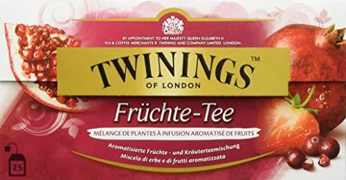 Twinings Früchte-Tee - erfrischender Tee mit fruchtigen Aromen von Moosbeere, Granatapfel und Erbeere im Beutel, 50 g