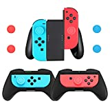 3 Pack Comfort Grips Compatible with Nintendo Switch/Switch OLED Joy-Con, Handle Grips Kit for Switch/Switch OLED Joy-Con Controller with 4 Thumb Grip Caps
