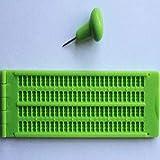 Inicio Pizarra Braille 4 Líneas 28 Celdas Pizarra de Escritura Braille Con Lápiz de Plástico Verde